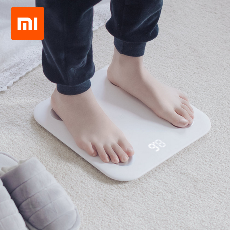 Xiaomi Mi Smart Scale 2 Weight Health Mifit APP Body Composition Monitor Hidden LED Display Body Fat BMR Test(RUSSIA WAREHOUSE) xiaomi bluetooth v4 0 smart body weight scale bmi data analysis 5 150kg
