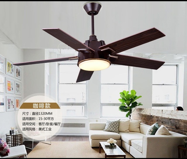 Aliexpresscom Buy Industrial Mute Fan Ceiling Fan Light Living - Ceiling fans with lights for living room