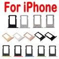 Alta calidad bandeja de la tarjeta sim para apple iphone 4 4s 5g 5 5S se 6 6 s 6 s plus 7 sim ranura del sostenedor de reemplazo de piezas