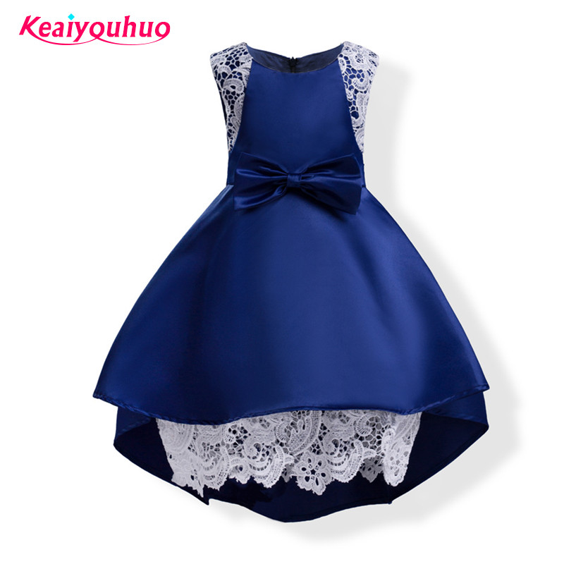 2017 Girls Party Dresses Princess Dress 3-10 Years Kids Lace summer long tailing Dresses for Toddler Girl Children Clothing summer 2017 new girl dress baby princess dresses flower girls dresses for party and wedding kids children clothing 4 6 8 10 year