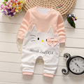 New 2017 fashion Cartoon baby rompers cotton baby girls boys clothes long sleeve newborn baby clothing set bebes