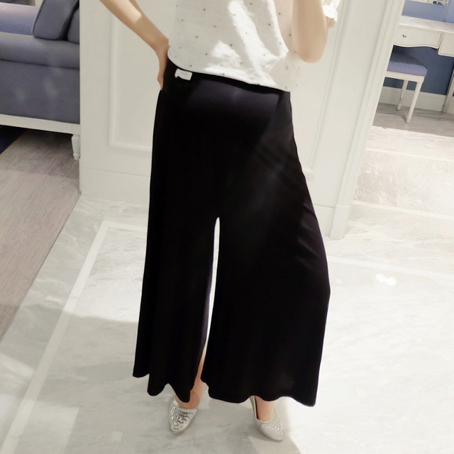 Popular Pregnant Women Loose Pants Spring Autumn Maternity Belly Cover Wide Leg Trousers Comfy Nine Pants Free Size