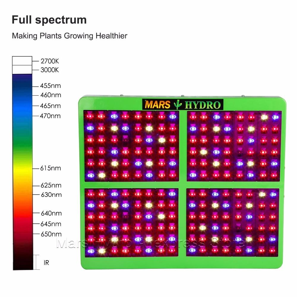 MarsHydro Reflector 1000W LED Grow Light Hydroponics лампа за - Професионално осветление - Снимка 2