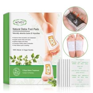 Image 1 - ALIVER 20pcs עבור 5 ימים גמילה רגל תיקוני רפידות גוף רעלים רגליים הרזיה צמחים טיהור דבק