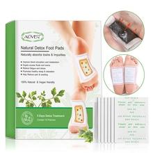Aliver 20 Pcs Voor 5 Dagen Detox Voet Patches Pads Lichaam Gifstoffen Voeten Afslanken Reiniging Herbal Adhesive