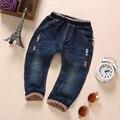 1-4 T Calças Bebe Meninos Meninas Calças Jeans Macio Denim Roupa Dos Miúdos da Roupa Do Bebê Da Criança Calça Jeans Bebe alta Qualidade