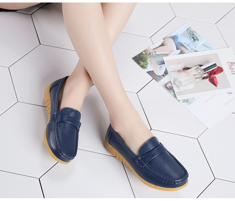 AH 2020-2019 Spring Autumn Women Loafers Genuine Leather Woman's Flats-12