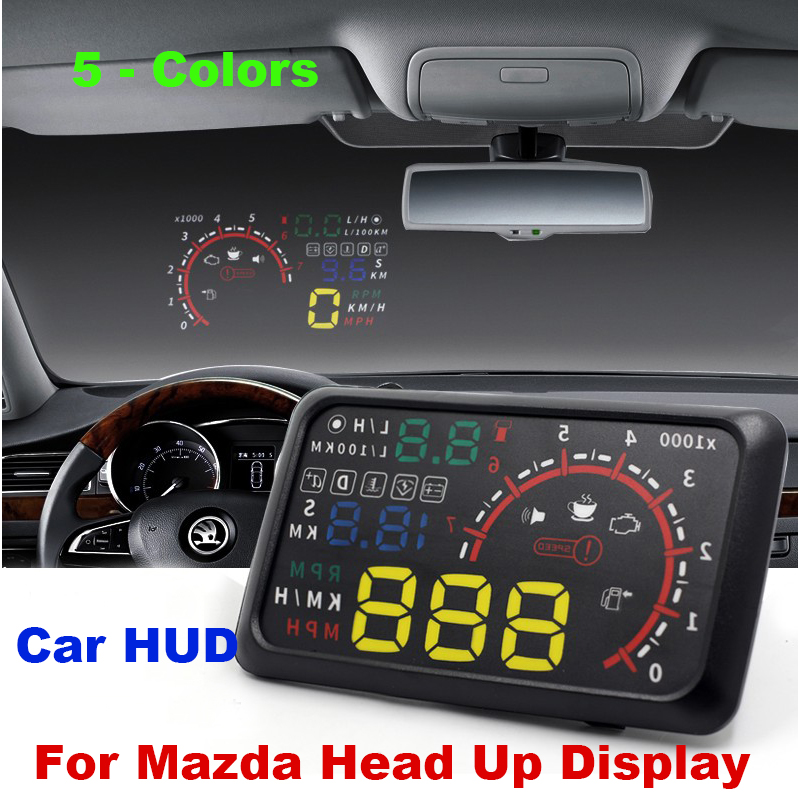 Auto 5 5 HUD Head Up Display Windscreen Projector OBD II Car Data Diagnosis CX 5