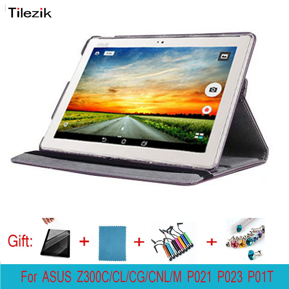 360 Rotating Folio Leather Case Cover For ASUS ZenPad 10 Z300C Z300CG Z300CL Z300M Z301MFL P023 P01T P021 10.1 Tablet Case