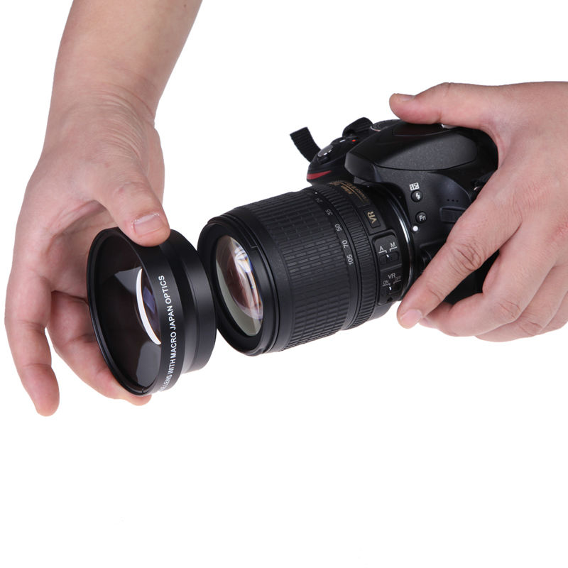 67mm 0.43x Wide Angle Macro Conversion Lens with Macro Wide-Angle Lens for Nikon D80 D90 D5000 D7000 L3EF