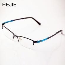 グレード男性女性アセテート&メタル眼鏡フレームブランドハーフリム光学メガネフレーム用男性女性サイズ54-17-145mm y1152