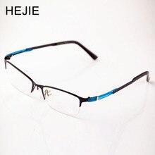 Grade Men Women Acetate&Metal Eyeglasses Frames Brand Half Rim Optical Glasses Frame For Male Female Size 54-17-145mm Y1152