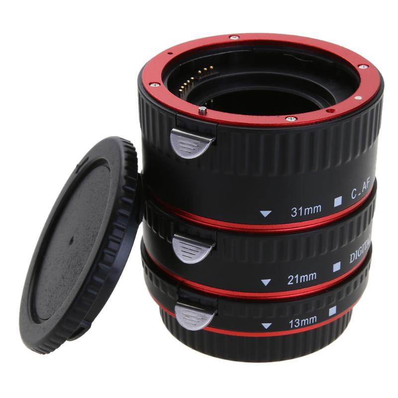 Auto focus AF macro extensión tubo/anillo para Canon 5d Mark IV EOS ef-s lente 760d 750d 700d 80d 7d t6s 6d Adaptadores para objetivos