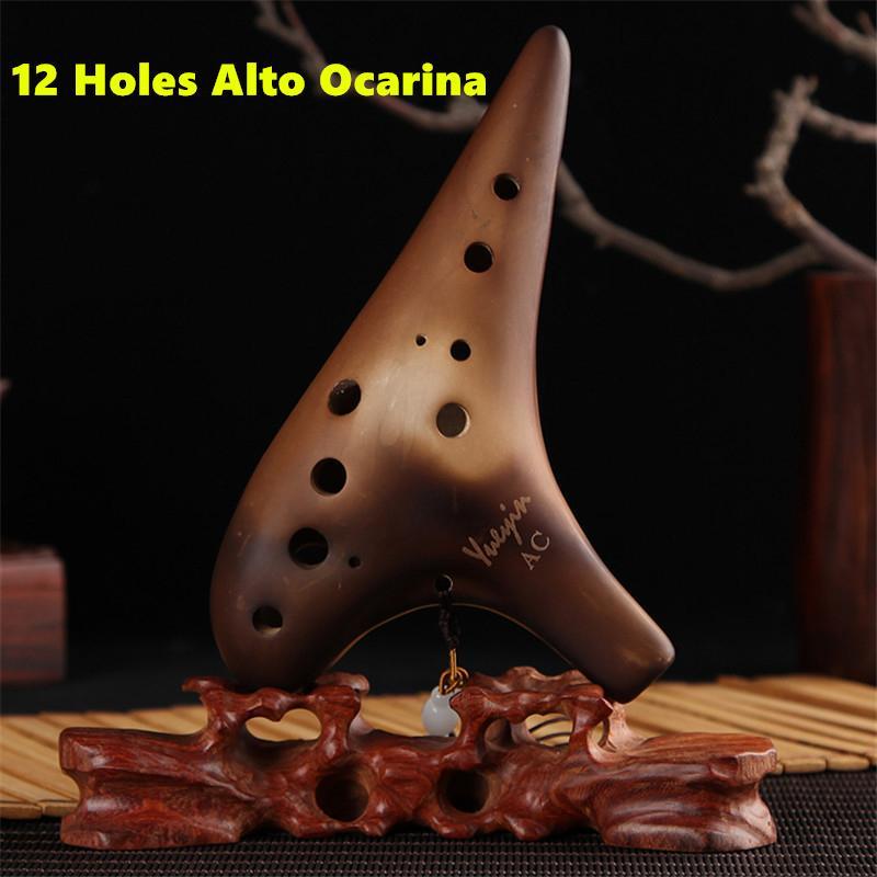 12 отворів окаріна тлеючі клавіші альт С флейта ручної роботи керамічні Ocarina музичний інструмент Zelda 12 керамічні Flauta