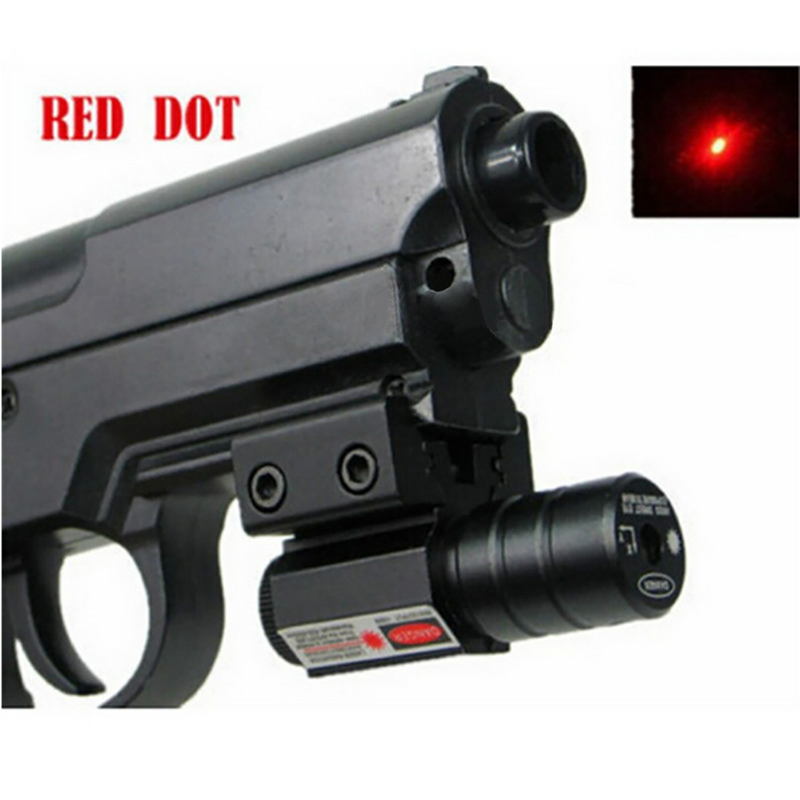 Image 3 - Red Dot Laser Sight  50 100 Meters Range 635 655nm For Pistol Adjust 11mm&20mm Picatinny Rail For HuntIing CY1-in Lasers from Sports & Entertainment