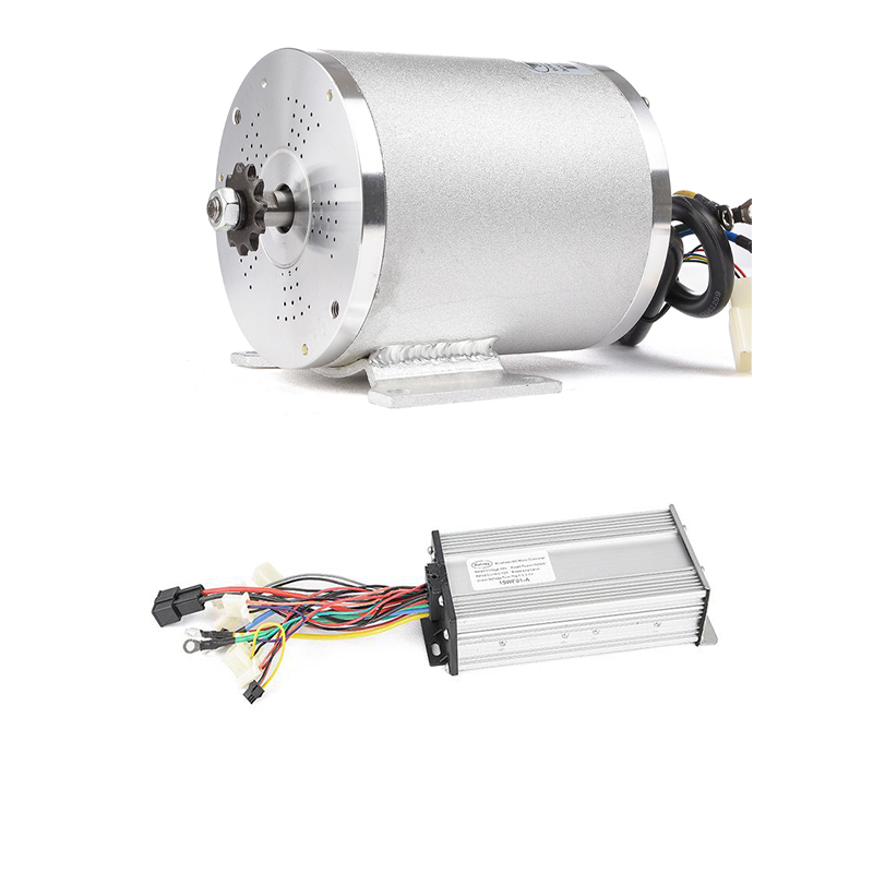 DIY 48V <font><b>2000W</b></font> <font><b>DC</b></font> <font><b>Brushless</b></font> <font><b>Motor</b></font> Burshless Controer l15MOSFET 33A Ebike Conversion Kit For Electric Three Car Engine image