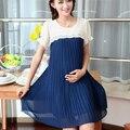 2016 xxxl verano más ropa de cama de algodón de mezclilla camisas de maternidad para las mujeres embarazadas ropa embarazo maternidad blusas florales ocasionales