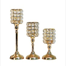 Candlestick European Ornaments Luxury Crystal Gold Ins Candles Home Feathers Romantic Lights Candlelight Dinner Props
