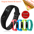 Original xiaomi mi banda 2 inteligente pulseira pulseira oled touchpad mi banda 2 heart rate monitor de fitness banda 2 xiao mi mi estoque