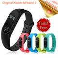 Original xiaomi mi banda 2 inteligente pulsera oled touchpad mi mi banda banda 2 heart rate monitor de fitness 2 xiao mi Stock