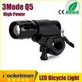 LED Bicicleta Luz Dianteira Da Tocha À Prova D' Água + Tocha Titular Nova Bicicleta Luz 7 Watts 2000 Lumens 3 Modo