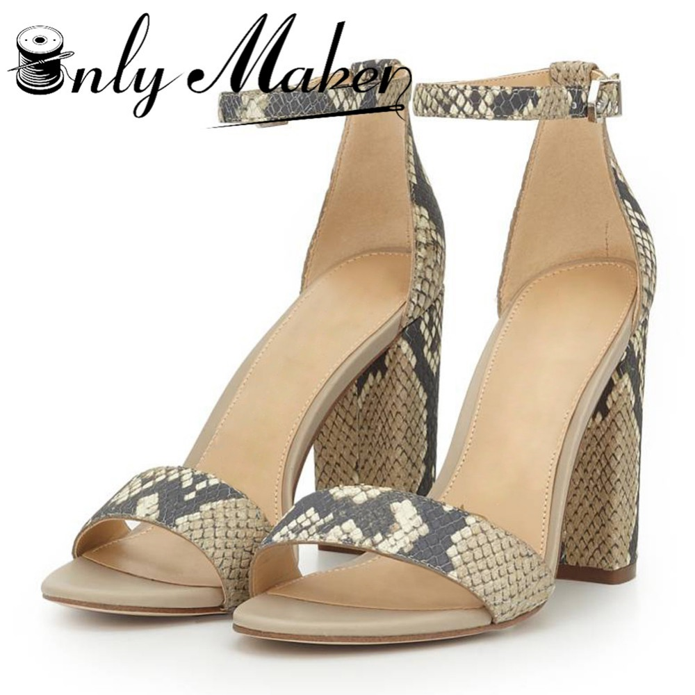 Womens sandals size 13 - Onlymaker Women S Ankle Strap Sandals Shoes Sexy 12cm High Heel Sandals Sweet Summer Shoes Plus Size 13 Open Toe Sandals