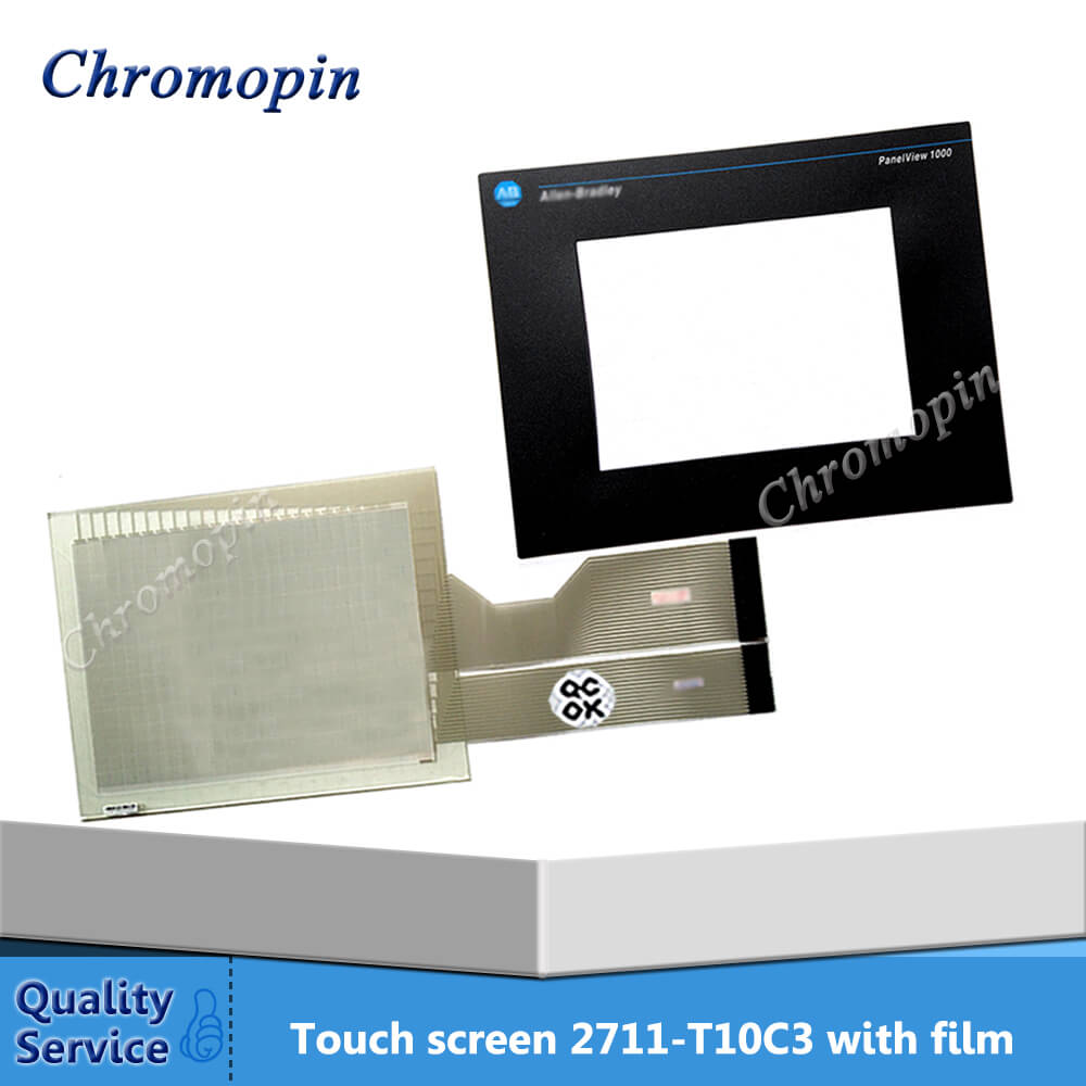 Touch panel for AB 2711-T10C3 2711-T10G16 2711-T10G16L1 2711-T10G15 PanelView 1000 with Protective film film mask for 2711 t5a15l1 panel 550 monochrome