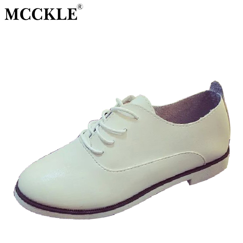 MCCKLE 2017 Woman Shoes Flat Fashion Women Black Round Toe Lace-up Platform Spring&Autumn Casual Hot Sale Comfortable Ladies mcckle 2017 fashion woman shoes flat women platform round toe lace up ladies office black casual comfortable spring