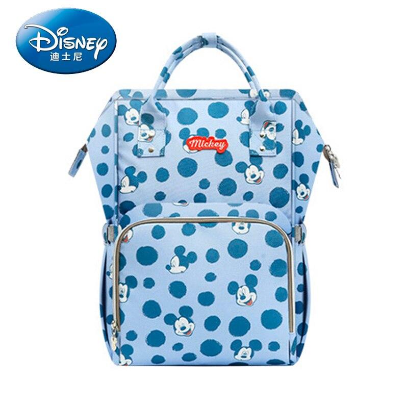Sac à langer Disney sac à dos USB bouteille isolation sacs Minnie Mickey grande capacité voyage Oxford alimentation bébé momie sac à main - 3