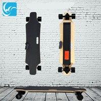 Четыре колеса Электрический скейтборд с Беспроводной пульт дистанционного управления E скейтборд скутер рыбка пластина Skate совета для взро