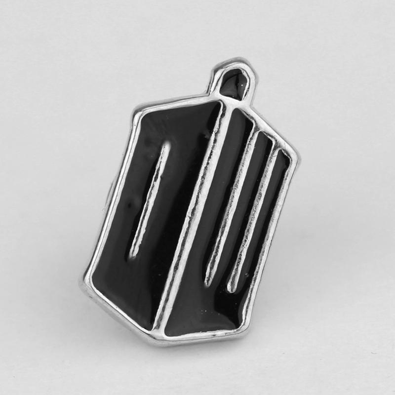 New Arrival Movie Jewelry Black Doctor Who DW Metal Brooch