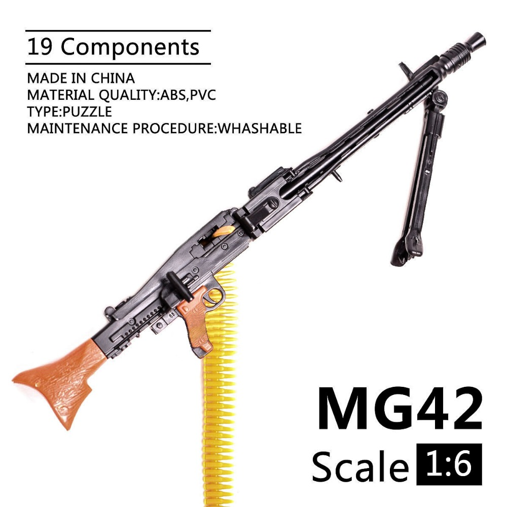 1:6 1/6 Scale 12 Inch Accessories WWII MG42 Heavy Machine Gun+Bullet Belt Toys 1/100 MG Bandai Gundam Model Gift