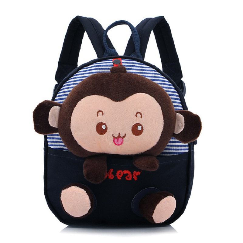 Cartoon animal monkey cotton children school bags kids backpack mochila infantil escolar ...