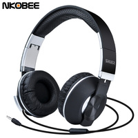 Headphones With Microphone NKOBEE Wired Headphones For Samsung Galaxy S8 For IPhone Mobile Phone Headphone Headset