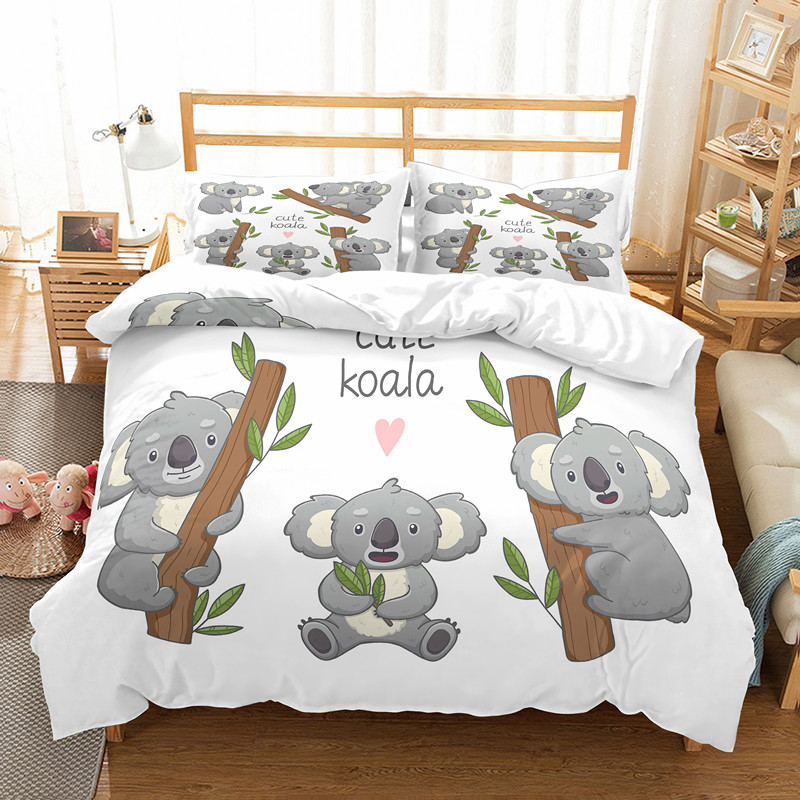 Rapport  Koala Fun Cute Animal Print Duvet Cover Bedding Set FREE P/&P
