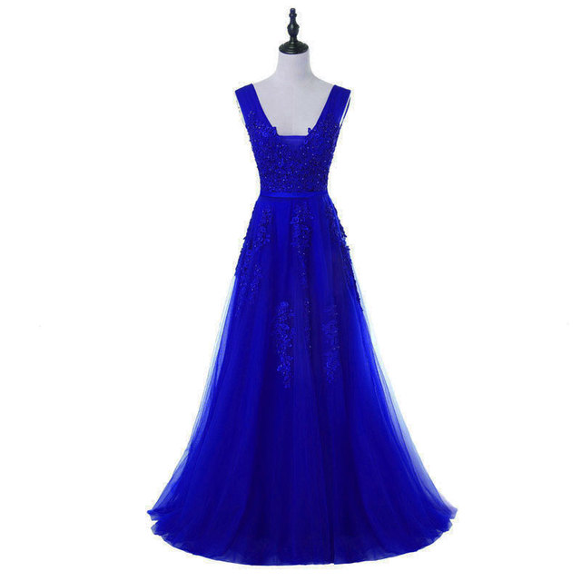 FADISTEE Elegant Long Bridesmaid Dresses Appliques Lace beading lace-up  style Wedding Party Dress Under 50  a23396a22b67