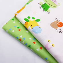 Soft Concise Green Leaf/Dot 100% Cotton Twill Fabric Breathable For DIY Quilting Sewing Crafts Cloth 160CM