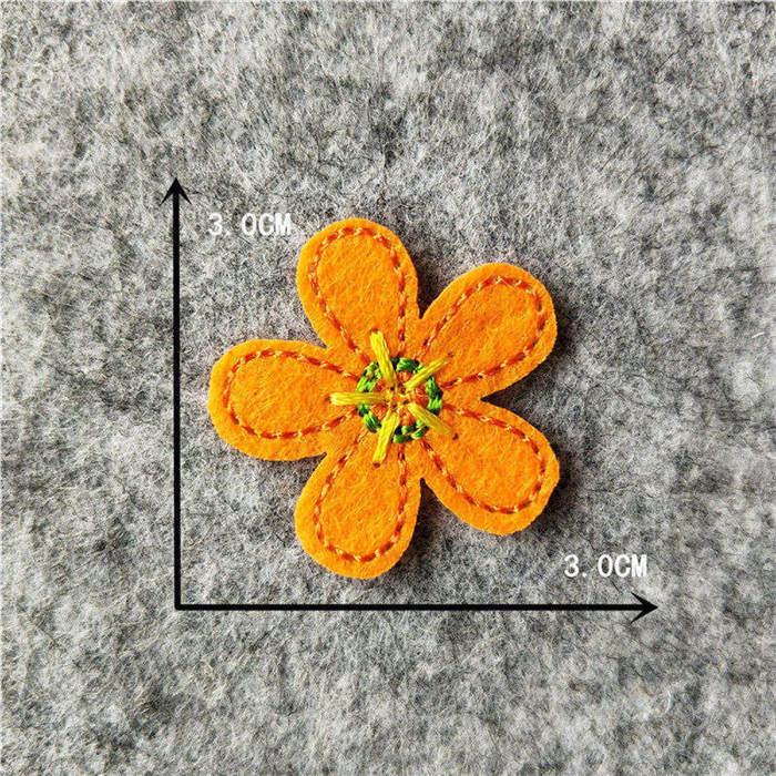 Мультяшная декоративная заплатка, сердце, дерево, Бабочка, узор, вышитая аппликация, нашивки для DIY, железные наклейки на одежду - Цвет: C6244