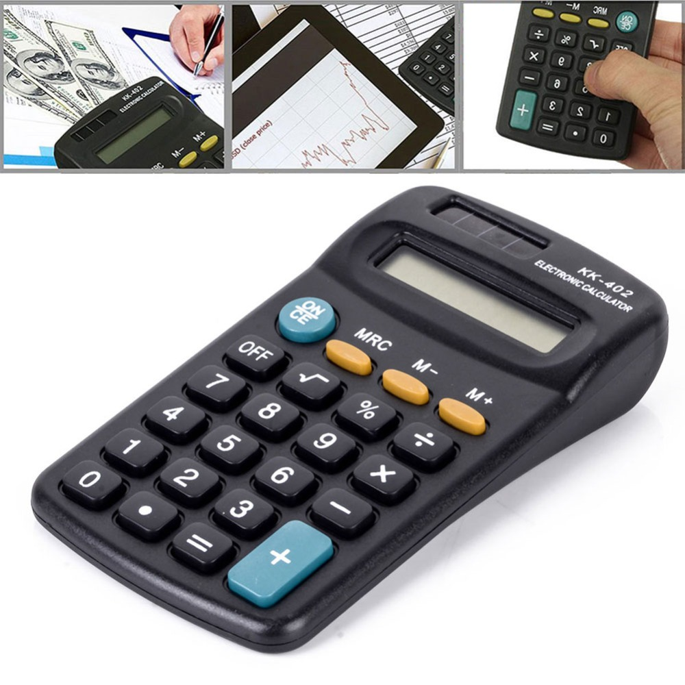 8 Digits Black Calculator For Office Working Student Study Stationery Supply