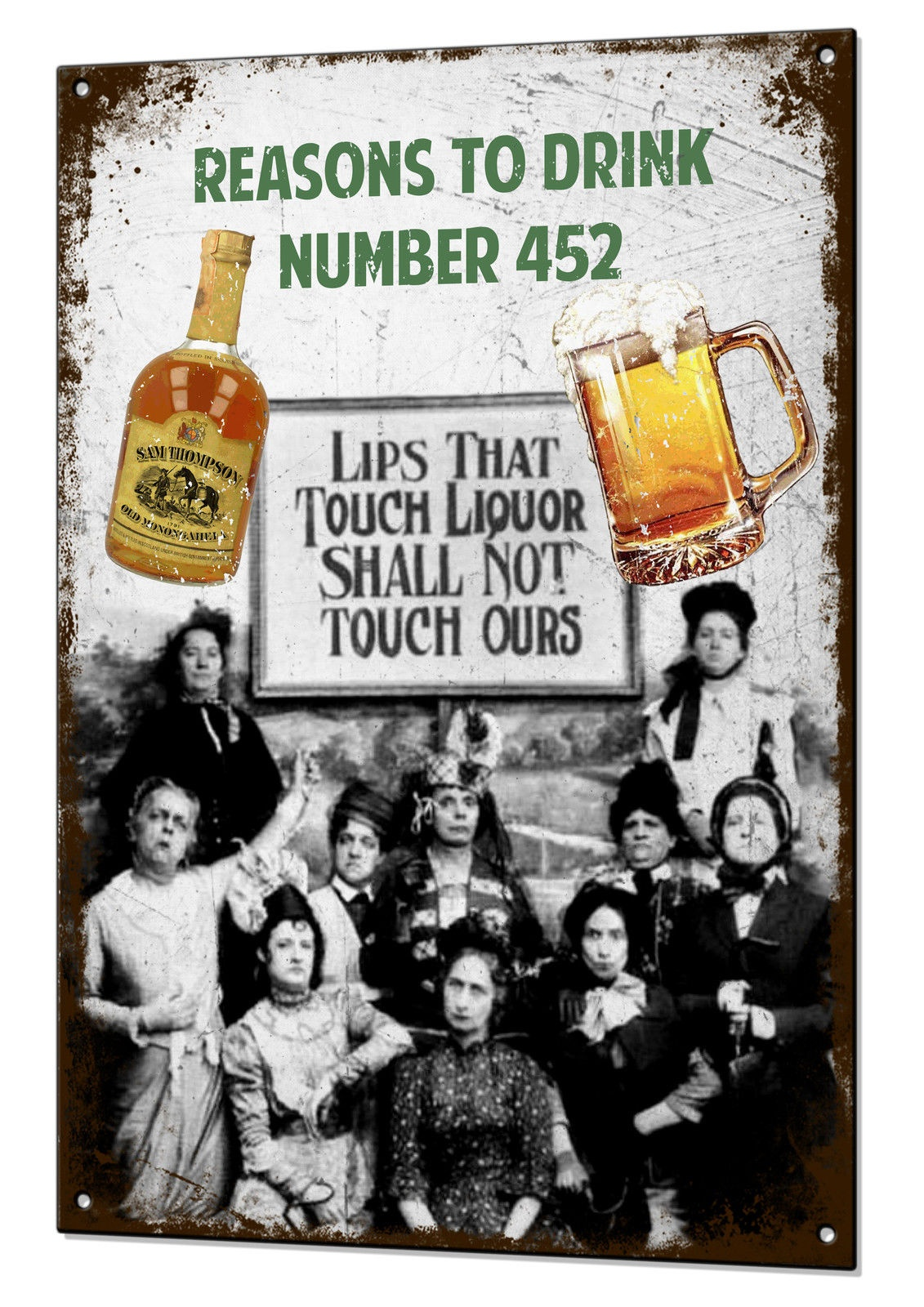 20x30CM Reasons To Drink Number 452 Funny Vintage Metal Sign Retro Man Cave Retro Tin Plaque