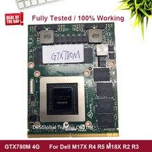 GTX 780M GTX780M 4G N14E-GTX-A2 Grafik Video Karte Für Laptop DELL Alienware M17X R4 R5 M18X R2 R3 vollständig Getestet 100% Arbeits