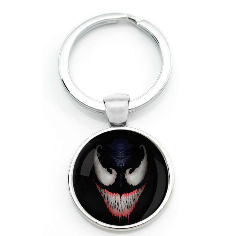 독 마스크 열쇠 고리 열쇠 고리 독 다크 슈퍼 히어로 열쇠 고리 스파이더 맨 keyfob venomous 거미 마술 공포 그림 영화 코스프레