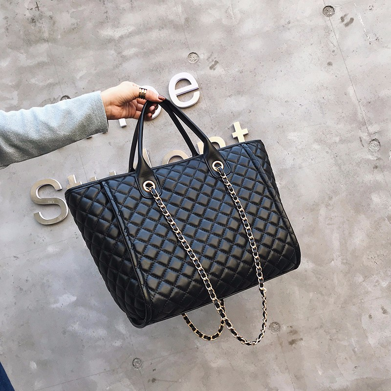 Luxury Handbags Women Bags Designer Tote 2018 Casual PU Leather Diamond Lattice Chain Large Women Messenger Bags Shoulder Bag цена