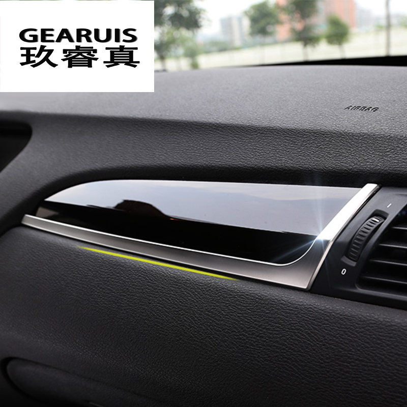 Car styling For BMW X3 F25 X4 F26 vice drive Glovebox Handle Decoration Glove box Strips Cover Sticker Interior auto Accessories