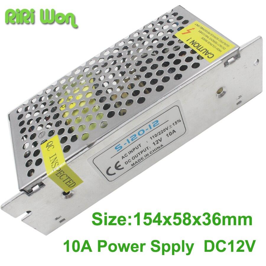 RiRi transformateur d'éclairage led 12 V, transformateur d'éclairage 2A 3A 5A 10A 12 V, petit Volume, sortie simple, commutation d'alimentation pour la lumière de la bande