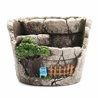 Home Flower Pot Succulent Plant Flowerpot Garden Unglazed Cement Crafts Decoration Planter Succulent Plants Pot