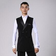 סלוניים לטיני ריקוד חולצות גברים שחור ארוך Veat מעיל זכר ואלס פלמנגו Cha Cha בגדי תחרות ביצועים ללבוש DNV11344