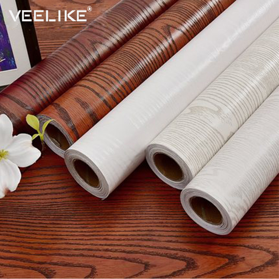 US $12.87 40% OFF|Vinyl Contact Paper for Kitchen Cabinets Shelf Liner Wall  Decals for Bedroom Living Room PVC Waterproof Wall Sticker Home Decor-in ...