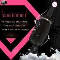 Nieuwe sex machine Automatische telescopische 80mm sex machine dildo vibrator Vrouwelijke Masturbatie pistool dildo machine volwassen speeltjes