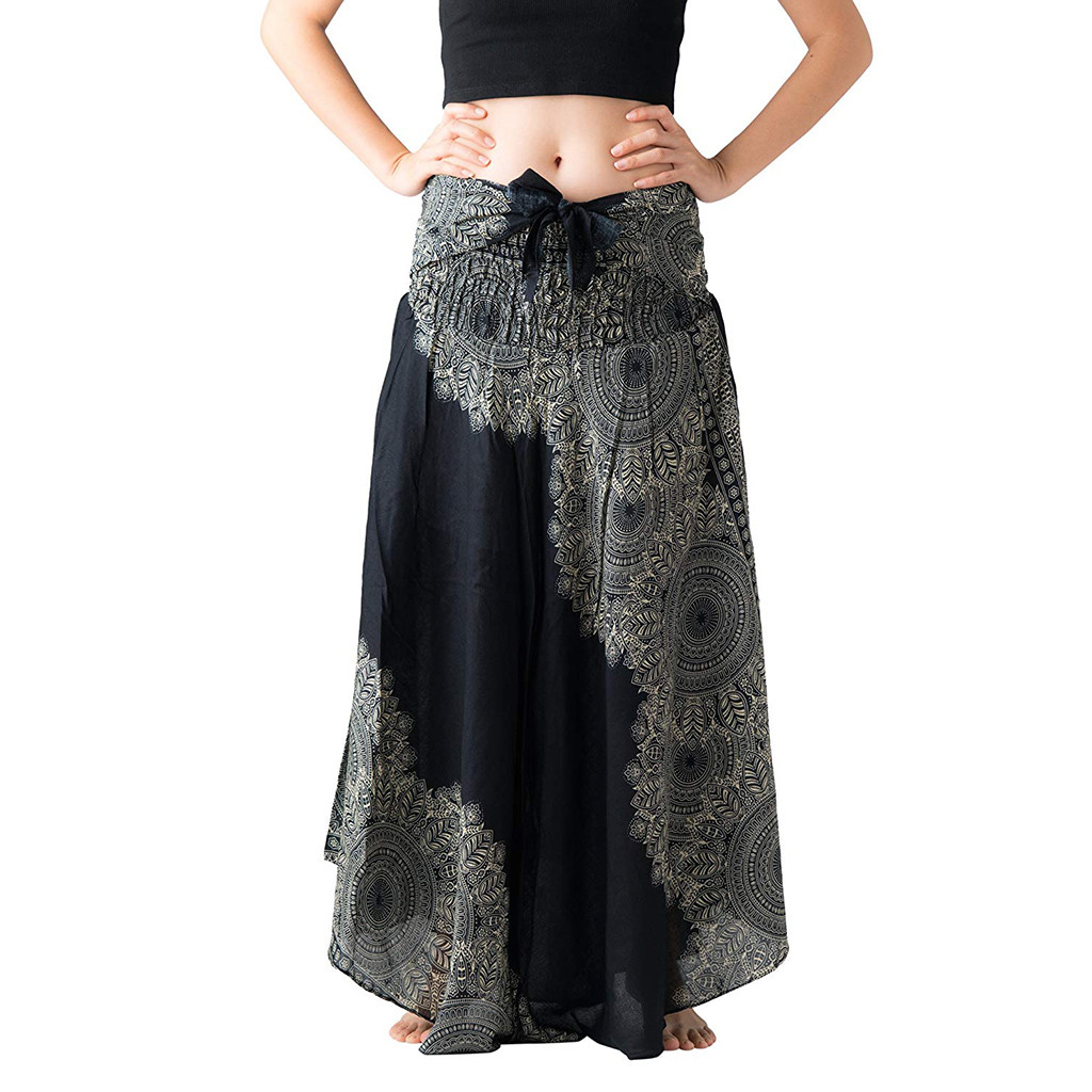 Women's Clothing Lower Price with Women Long Hippie Bohemian Gypsy Boho Flowers Elastic Waist Floral Halter Skirt At All Costs